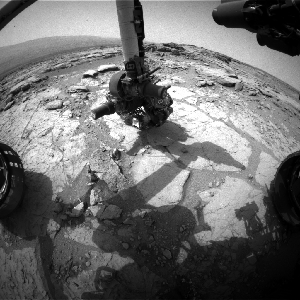NASA's Mars rover Curiosity acquired this image using its Front Hazard Avoidance Cameras (Front Hazcams) on Sol 292