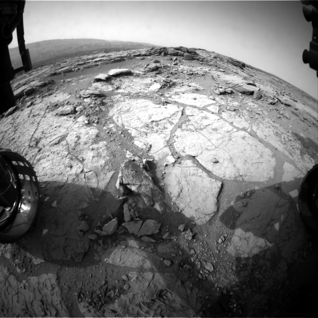 Nasa's Mars rover Curiosity acquired this image using its Front Hazard Avoidance Camera (Front Hazcam) on Sol 293, at drive 82, site number 6