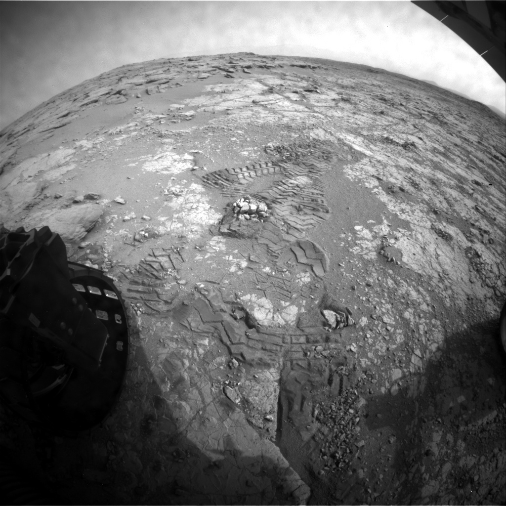 NASA's Mars rover Curiosity acquired this image using its Rear Hazard Avoidance Cameras (Rear Hazcams) on Sol 293