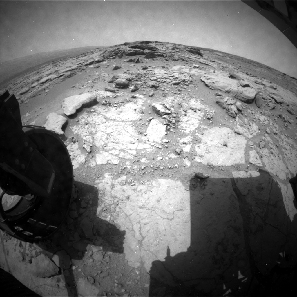 NASA's Mars rover Curiosity acquired this image using its Rear Hazard Avoidance Cameras (Rear Hazcams) on Sol 295
