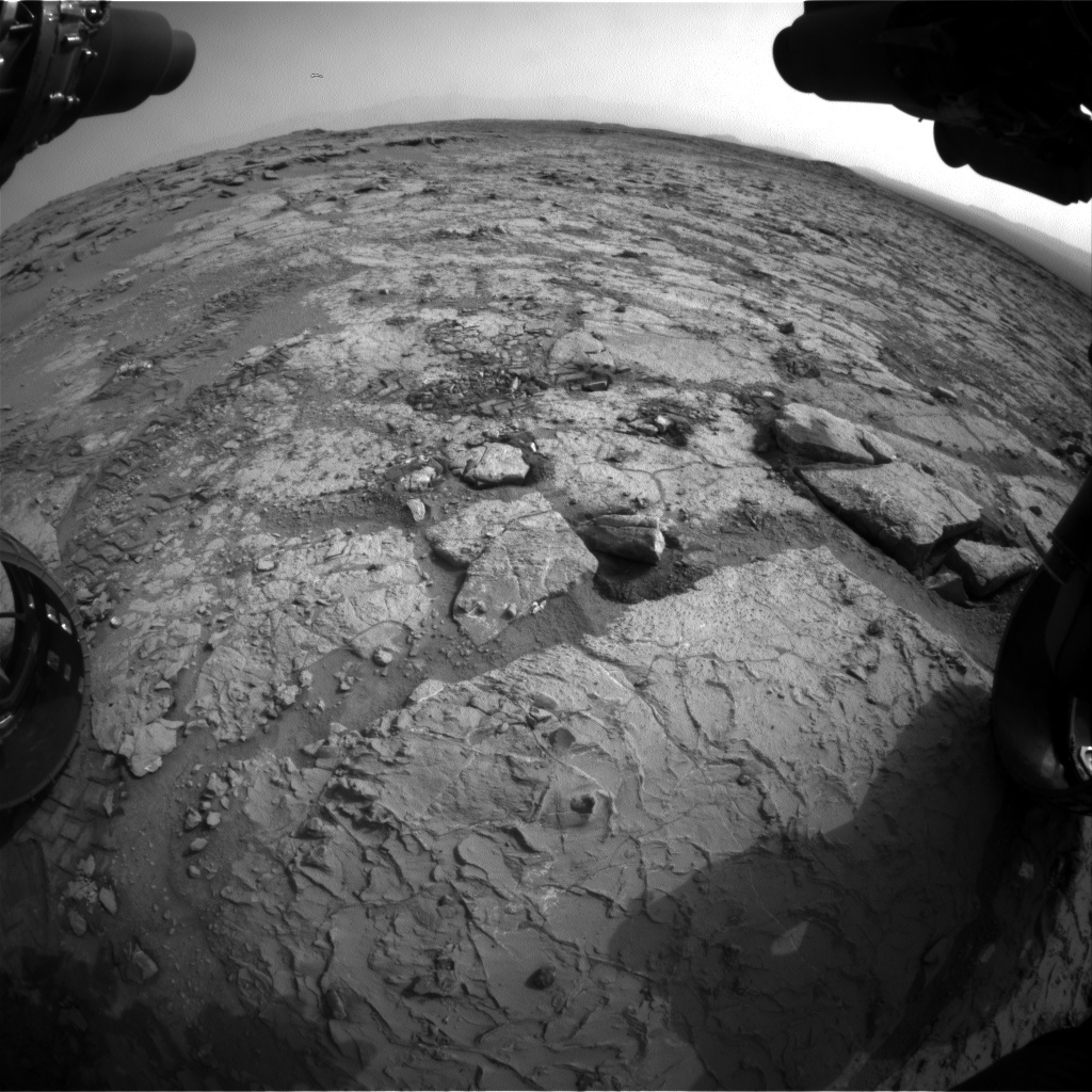 NASA's Mars rover Curiosity acquired this image using its Front Hazard Avoidance Cameras (Front Hazcams) on Sol 296