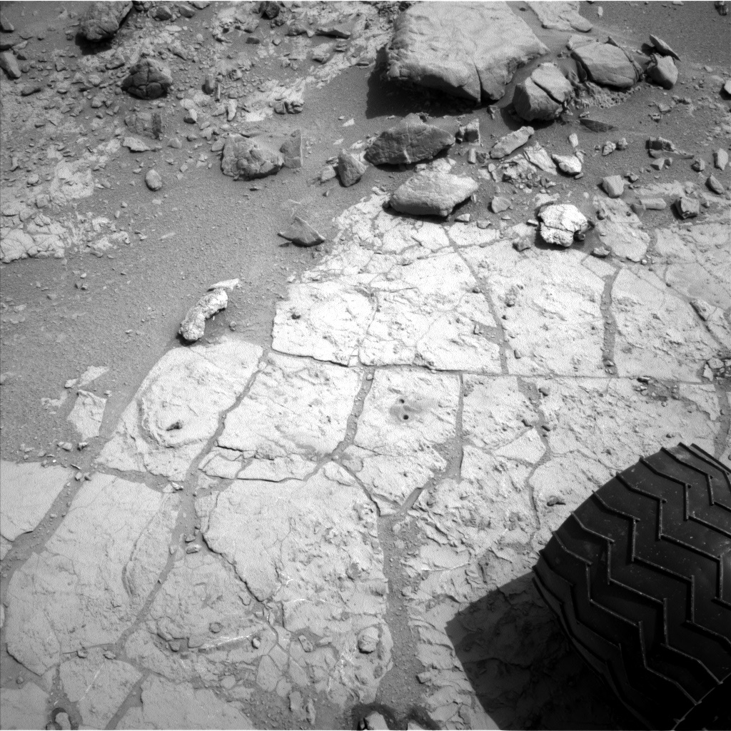 Nasa's Mars rover Curiosity acquired this image using its Left Navigation Camera on Sol 296, at drive 116, site number 6