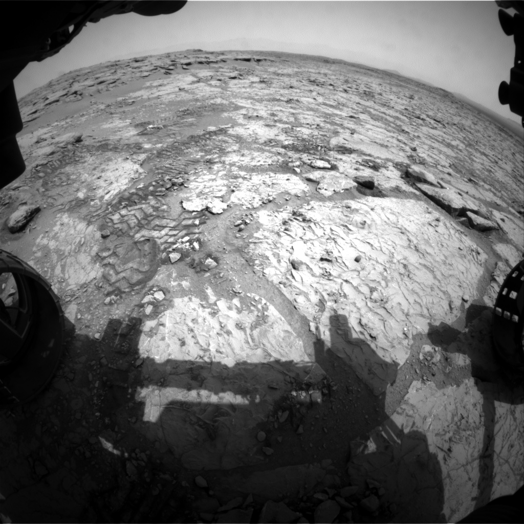 Nasa's Mars rover Curiosity acquired this image using its Front Hazard Avoidance Camera (Front Hazcam) on Sol 297, at drive 122, site number 6