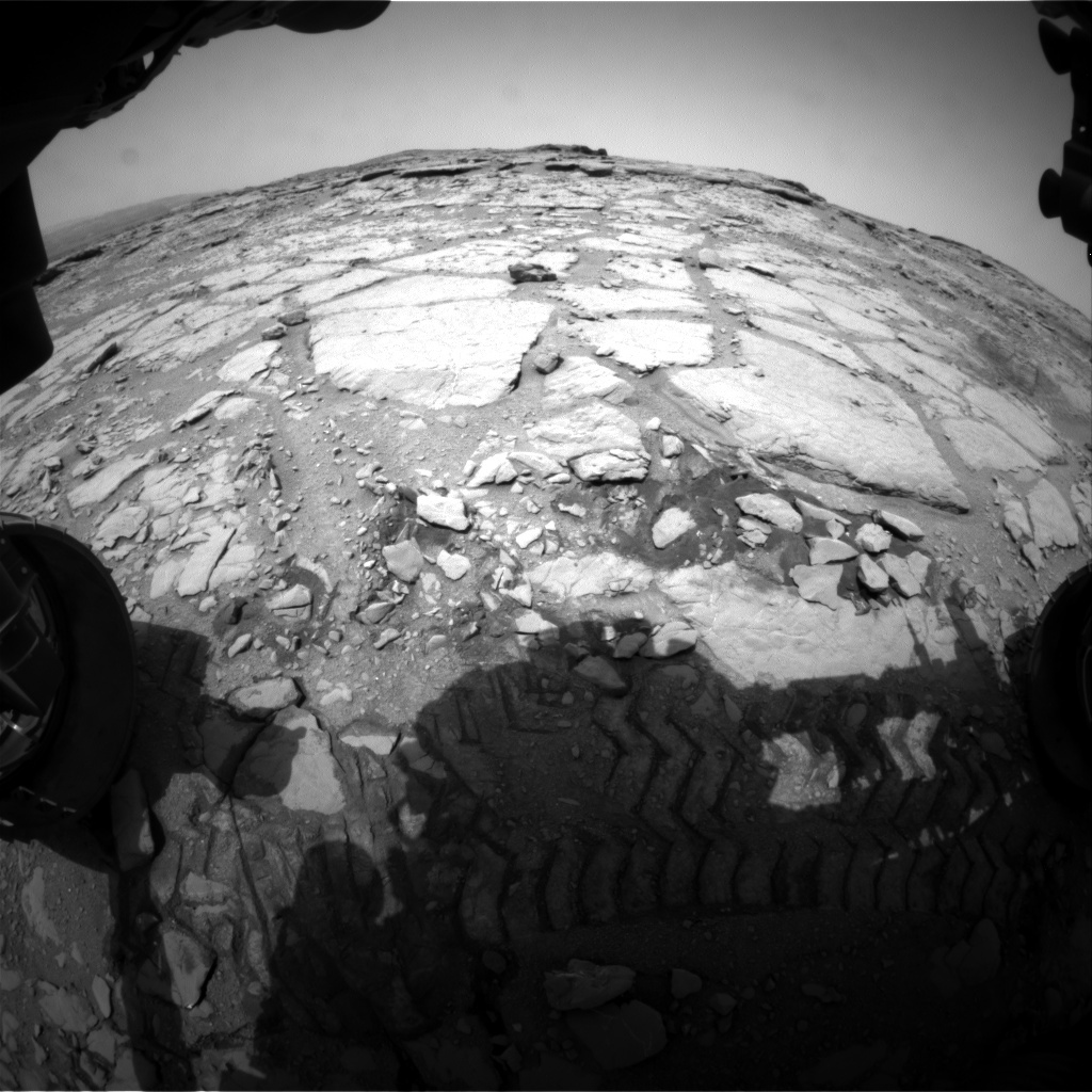 NASA's Mars rover Curiosity acquired this image using its Front Hazard Avoidance Cameras (Front Hazcams) on Sol 297