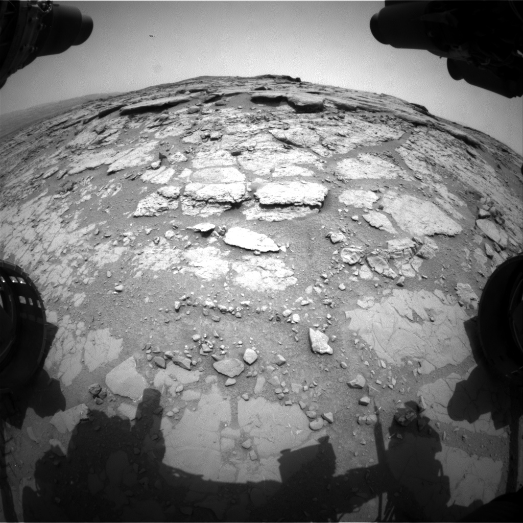 Nasa's Mars rover Curiosity acquired this image using its Front Hazard Avoidance Camera (Front Hazcam) on Sol 297, at drive 224, site number 6