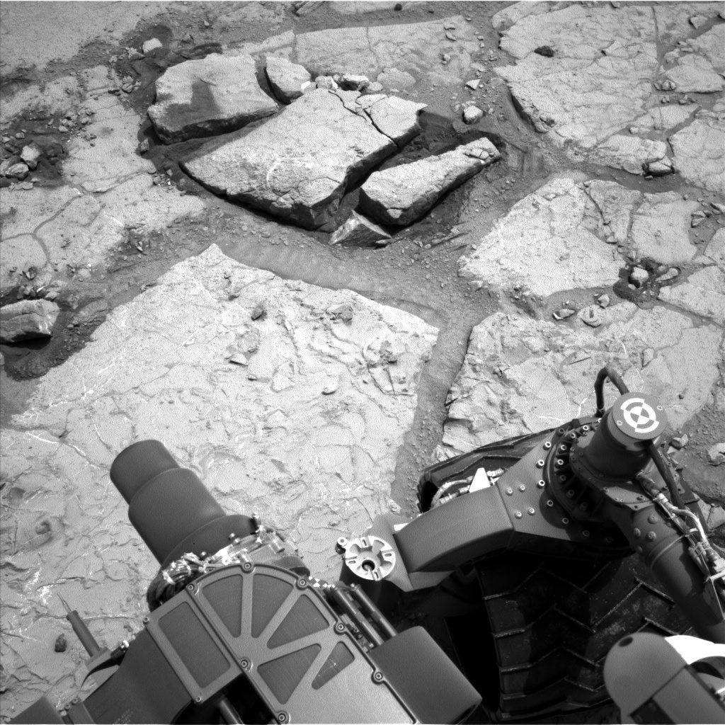 Nasa's Mars rover Curiosity acquired this image using its Left Navigation Camera on Sol 297, at drive 122, site number 6
