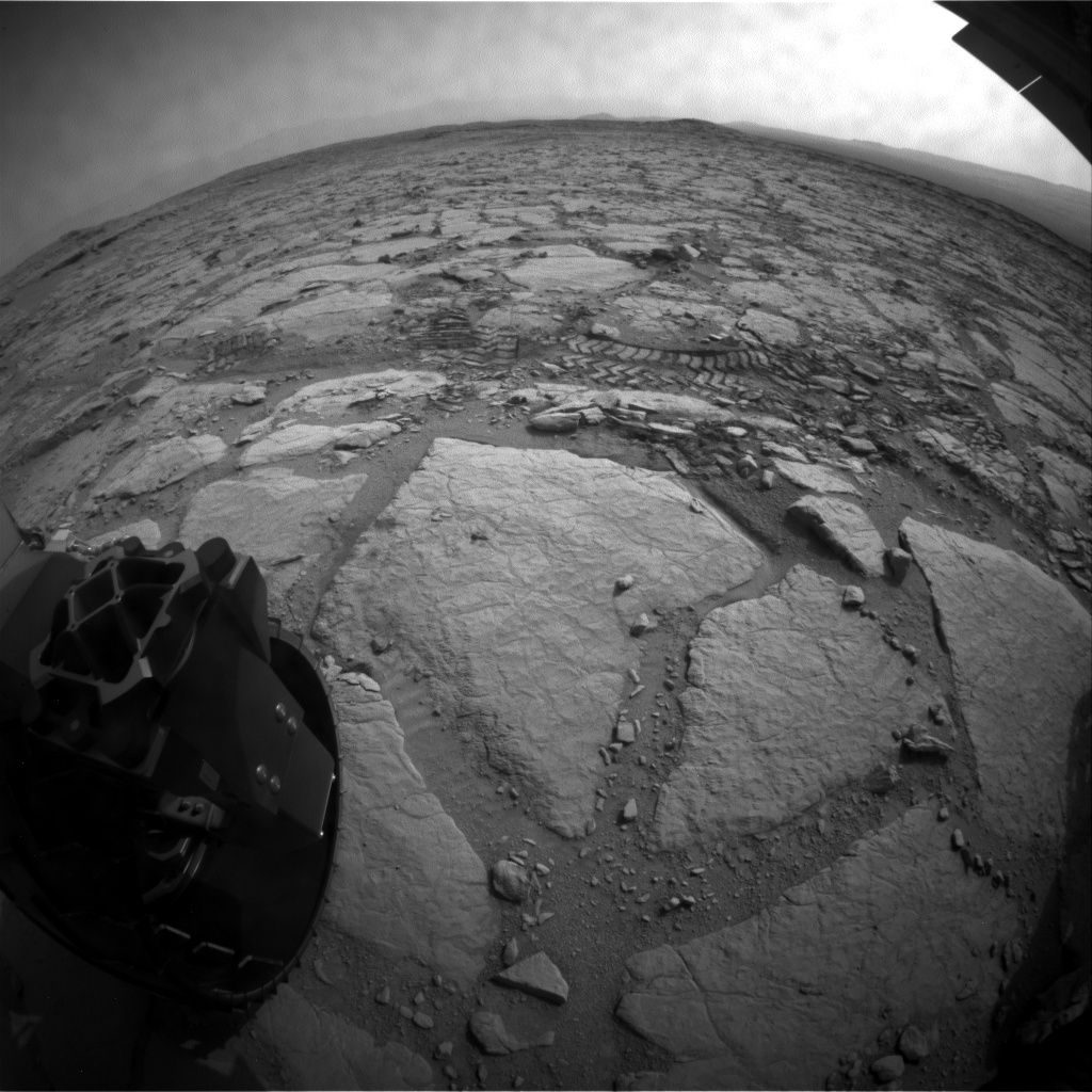 NASA's Mars rover Curiosity acquired this image using its Rear Hazard Avoidance Cameras (Rear Hazcams) on Sol 298