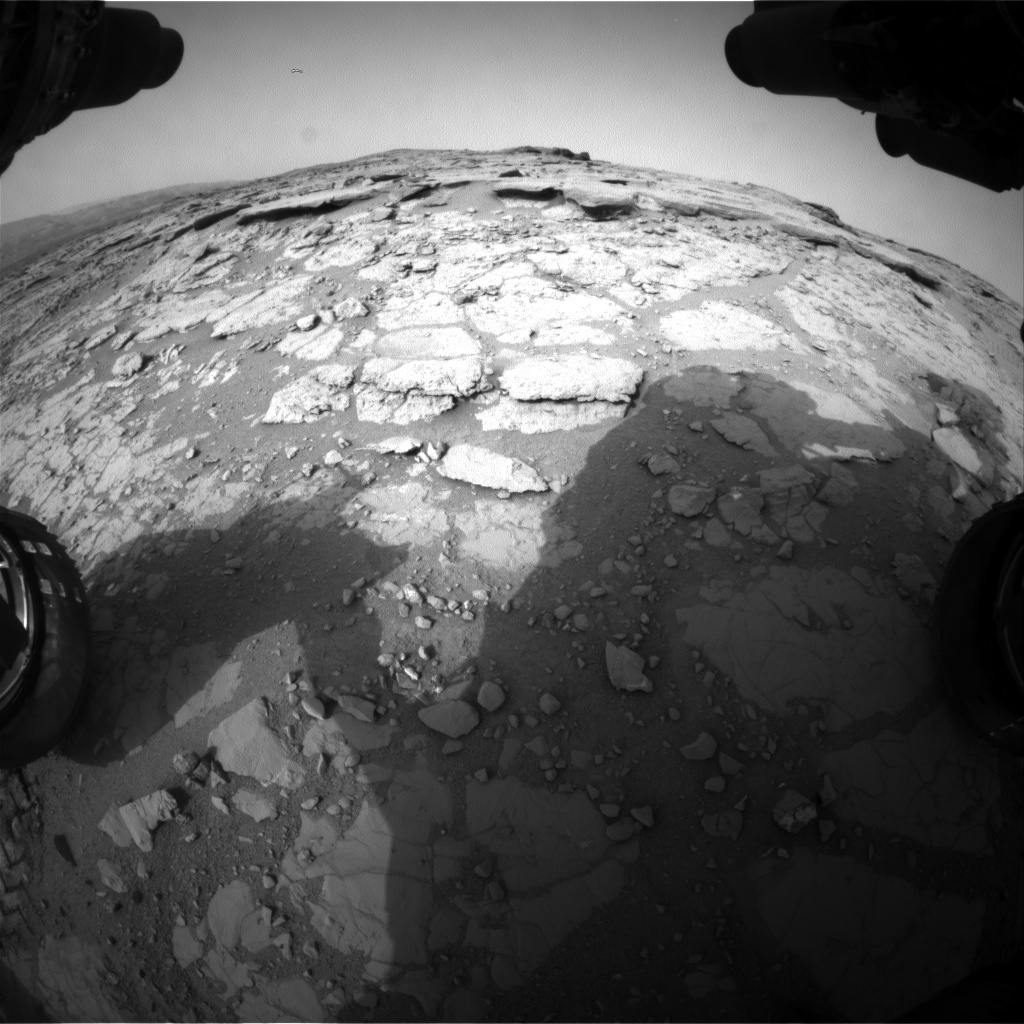 NASA's Mars rover Curiosity acquired this image using its Front Hazard Avoidance Cameras (Front Hazcams) on Sol 299