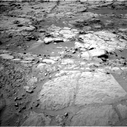 NASA's Mars rover Curiosity acquired this image using its Left Navigation Camera (Navcams) on Sol 299