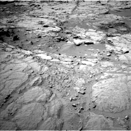 Nasa's Mars rover Curiosity acquired this image using its Left Navigation Camera on Sol 299, at drive 296, site number 6
