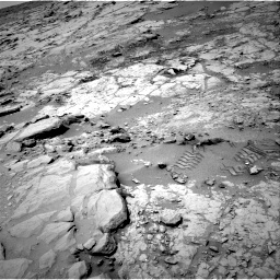 Nasa's Mars rover Curiosity acquired this image using its Right Navigation Camera on Sol 299, at drive 266, site number 6