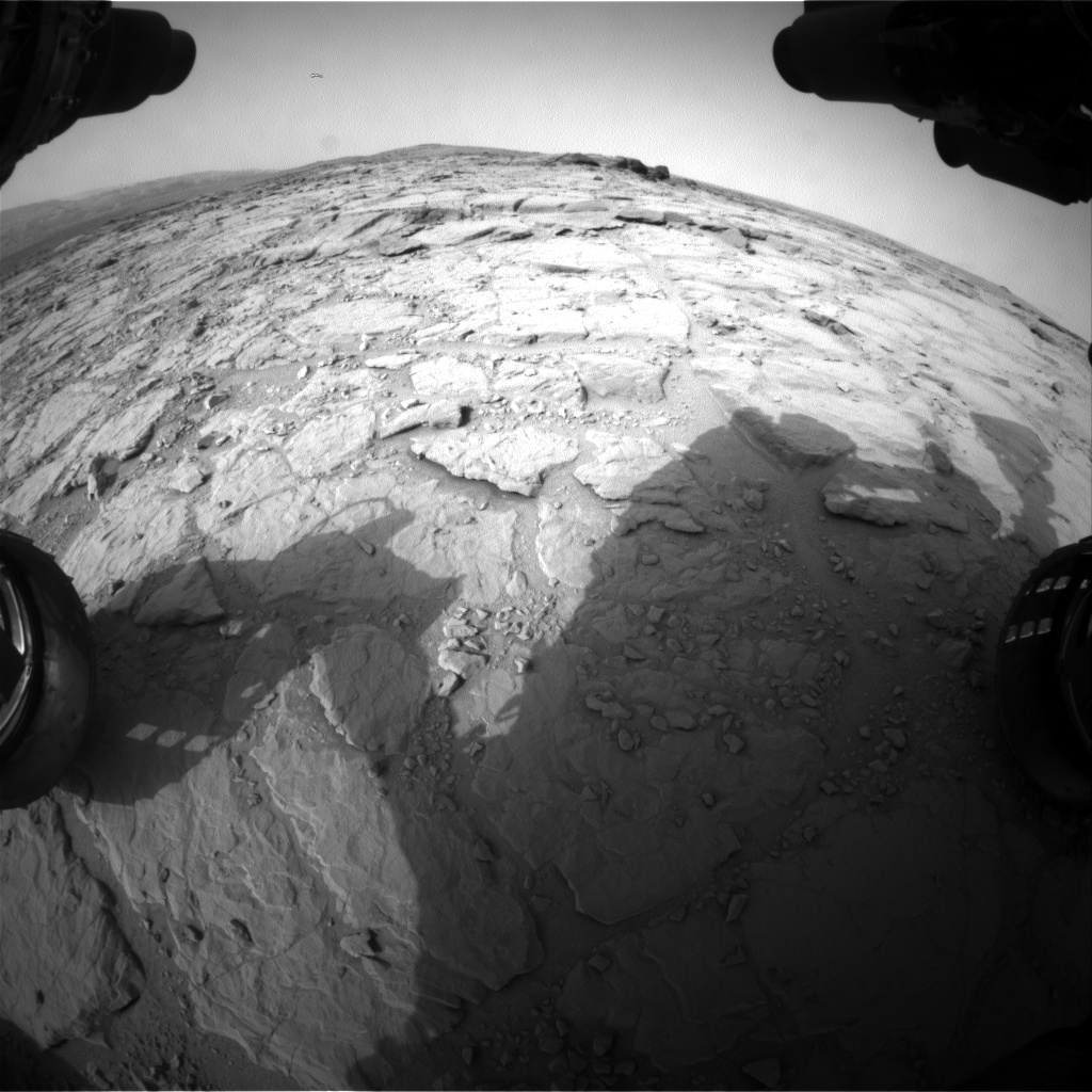 Nasa's Mars rover Curiosity acquired this image using its Front Hazard Avoidance Camera (Front Hazcam) on Sol 300, at drive 308, site number 6