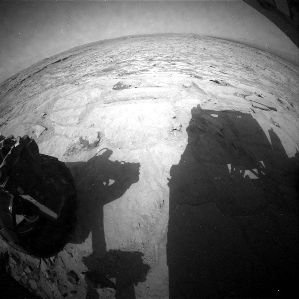 NASA's Mars rover Curiosity acquired this image using its Rear Hazard Avoidance Cameras (Rear Hazcams) on Sol 300