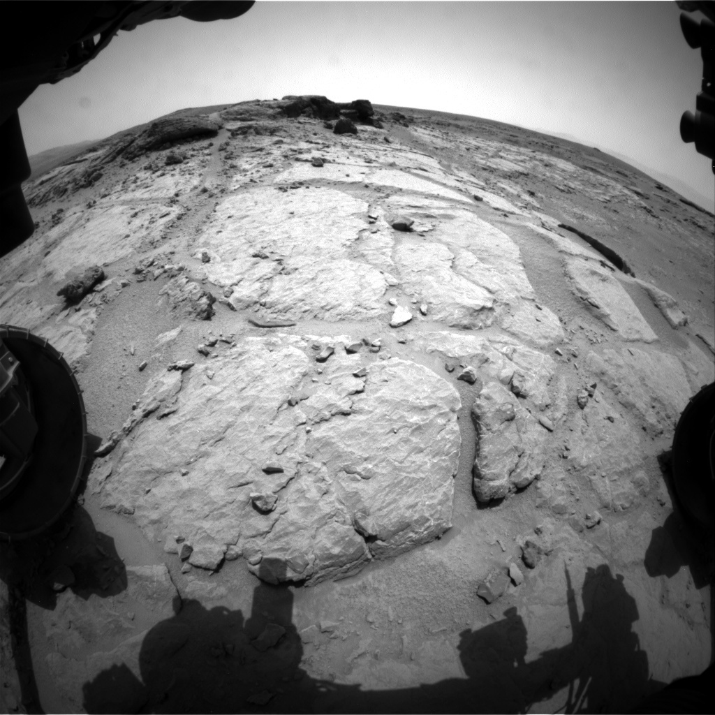 NASA's Mars rover Curiosity acquired this image using its Front Hazard Avoidance Cameras (Front Hazcams) on Sol 301