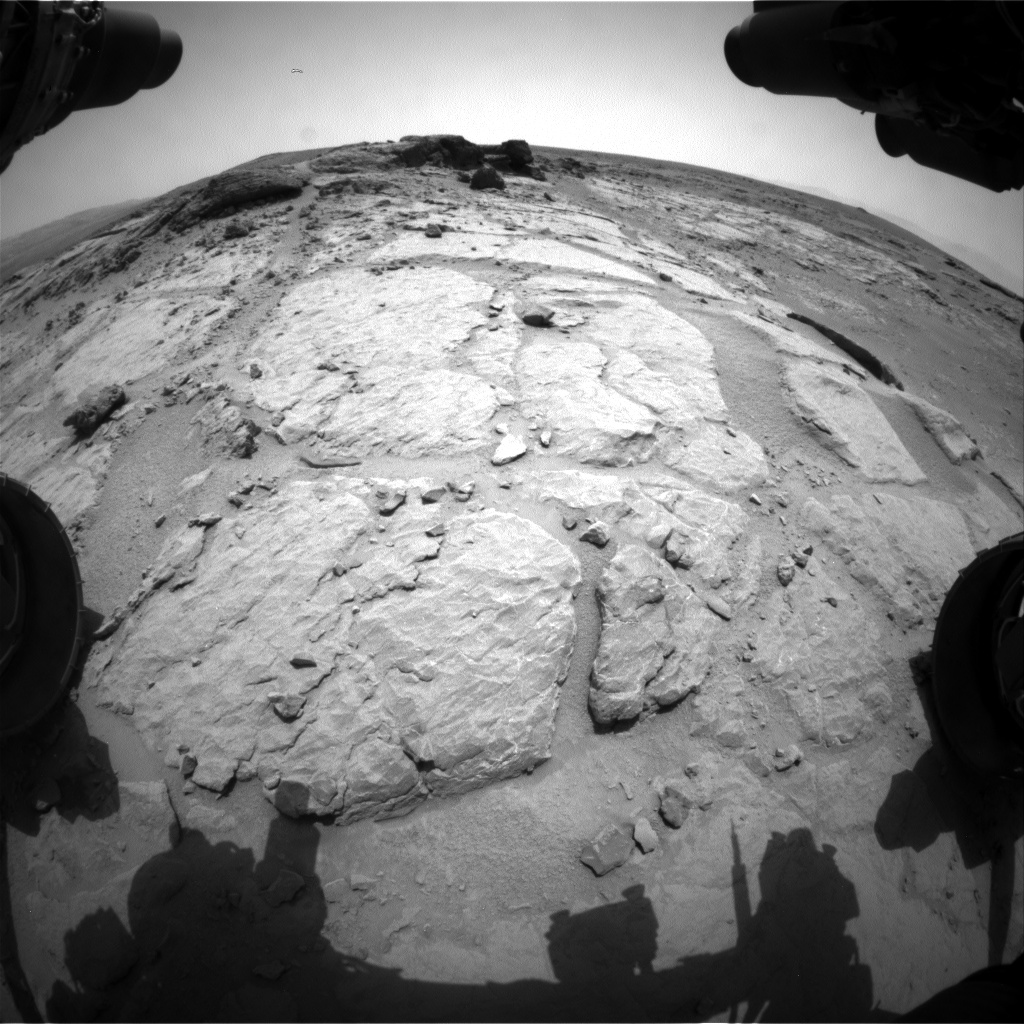 Nasa's Mars rover Curiosity acquired this image using its Front Hazard Avoidance Camera (Front Hazcam) on Sol 301, at drive 410, site number 6