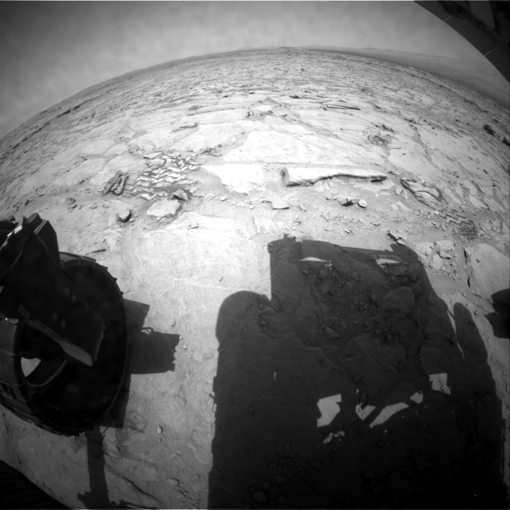 NASA's Mars rover Curiosity acquired this image using its Rear Hazard Avoidance Cameras (Rear Hazcams) on Sol 301