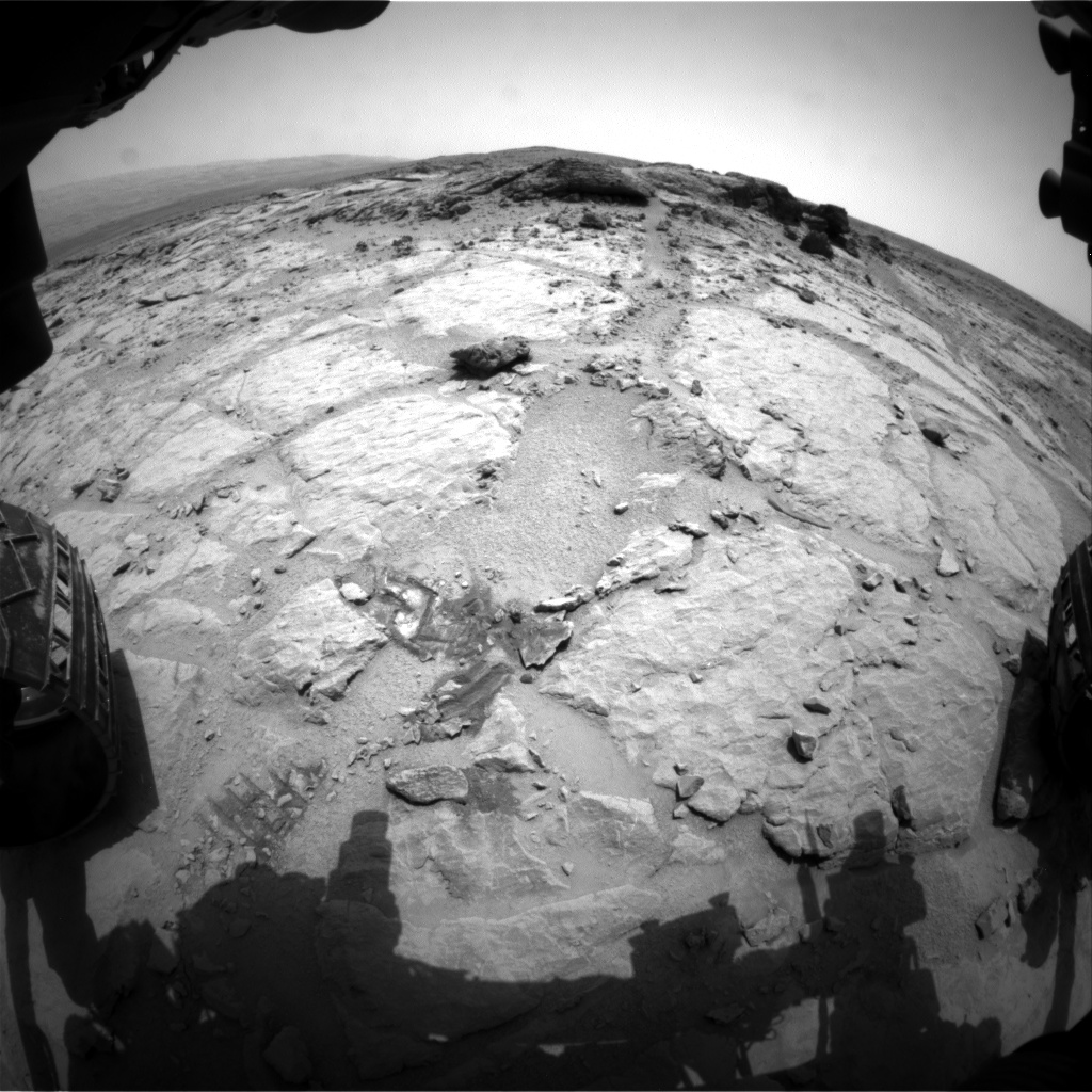 Nasa's Mars rover Curiosity acquired this image using its Front Hazard Avoidance Camera (Front Hazcam) on Sol 302, at drive 422, site number 6