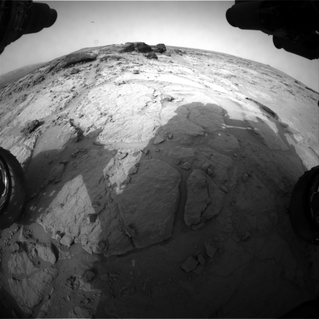 Nasa's Mars rover Curiosity acquired this image using its Front Hazard Avoidance Camera (Front Hazcam) on Sol 302, at drive 410, site number 6