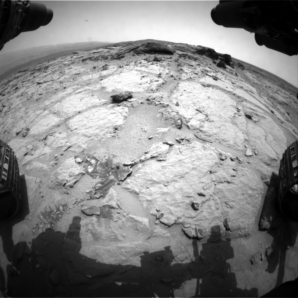 NASA's Mars rover Curiosity acquired this image using its Front Hazard Avoidance Cameras (Front Hazcams) on Sol 302