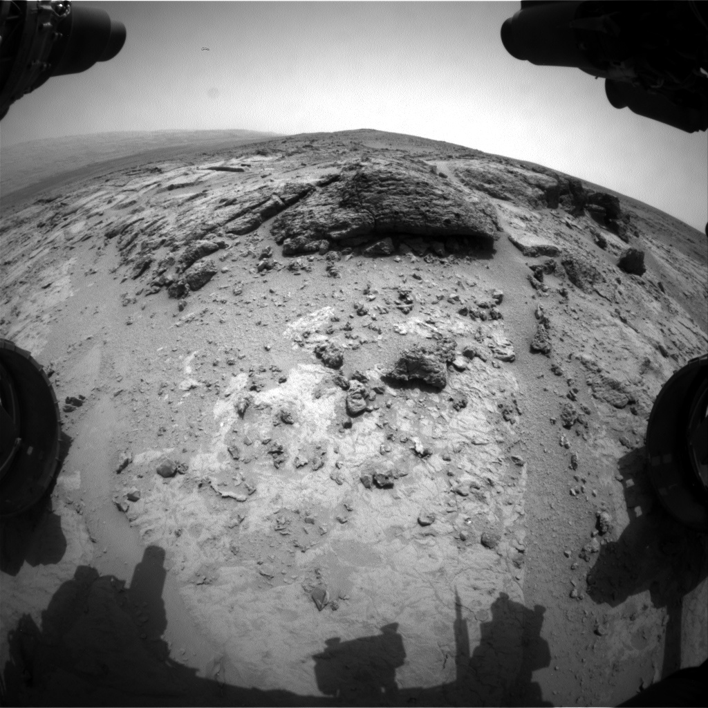 Nasa's Mars rover Curiosity acquired this image using its Front Hazard Avoidance Camera (Front Hazcam) on Sol 302, at drive 450, site number 6