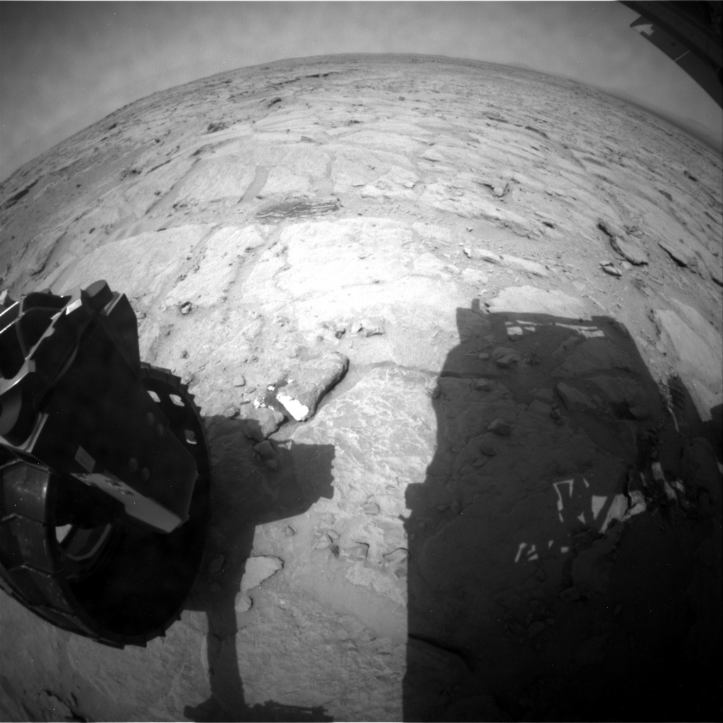 NASA's Mars rover Curiosity acquired this image using its Rear Hazard Avoidance Cameras (Rear Hazcams) on Sol 302