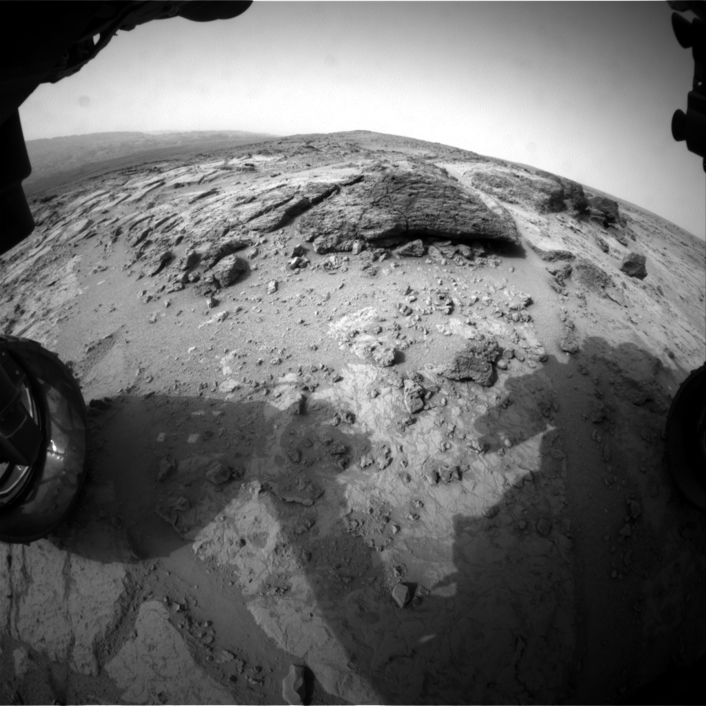 NASA's Mars rover Curiosity acquired this image using its Front Hazard Avoidance Cameras (Front Hazcams) on Sol 303