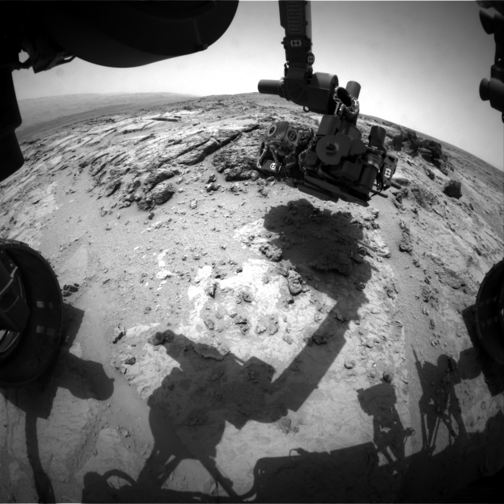 Nasa's Mars rover Curiosity acquired this image using its Front Hazard Avoidance Camera (Front Hazcam) on Sol 303, at drive 450, site number 6
