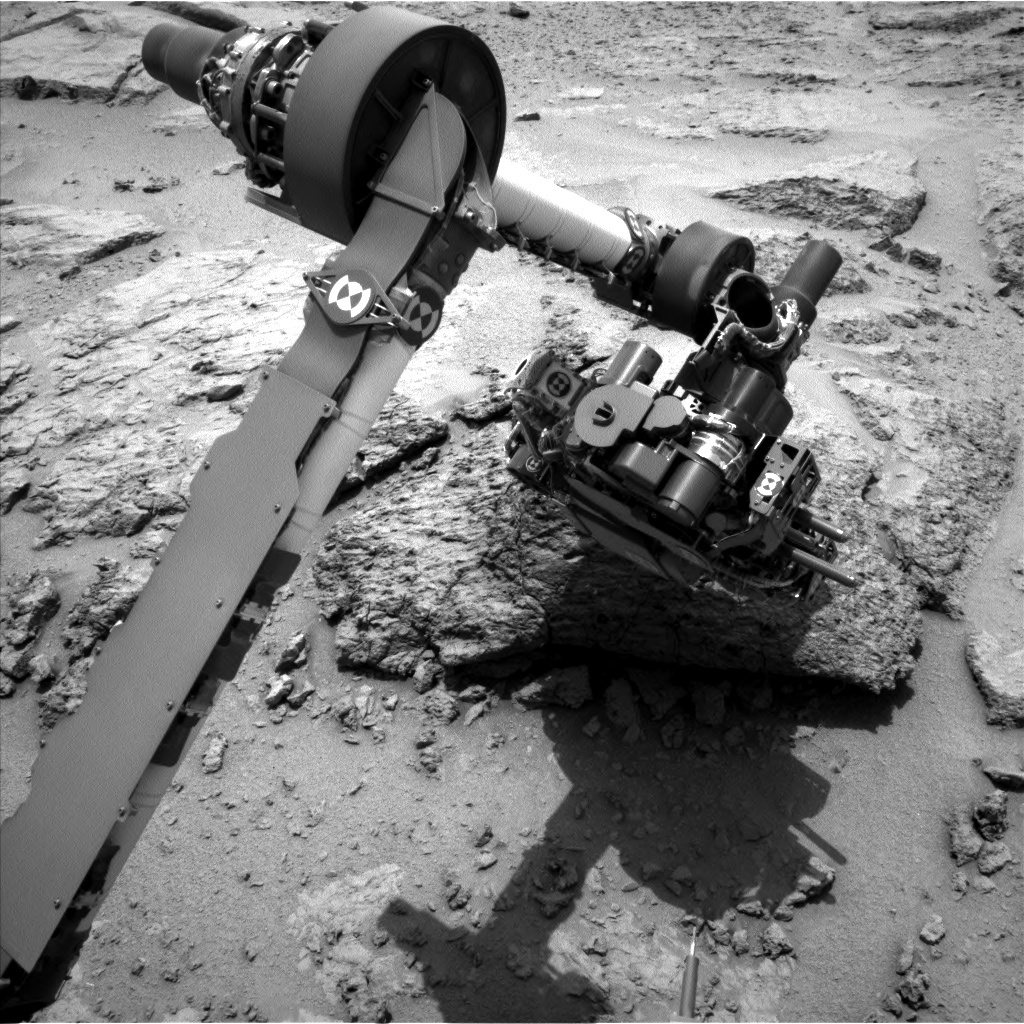 NASA's Mars rover Curiosity acquired this image using its Left Navigation Camera (Navcams) on Sol 303