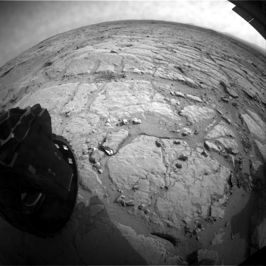 NASA's Mars rover Curiosity acquired this image using its Rear Hazard Avoidance Cameras (Rear Hazcams) on Sol 303
