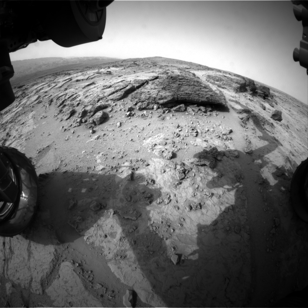Nasa's Mars rover Curiosity acquired this image using its Front Hazard Avoidance Camera (Front Hazcam) on Sol 304, at drive 450, site number 6