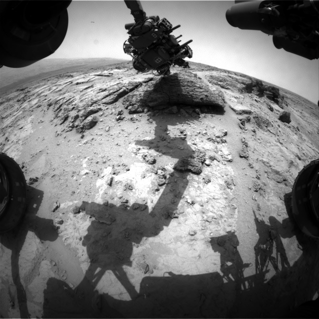 NASA's Mars rover Curiosity acquired this image using its Front Hazard Avoidance Cameras (Front Hazcams) on Sol 304