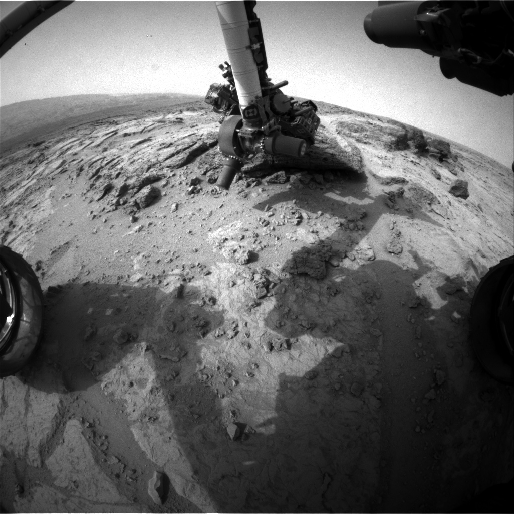 NASA's Mars rover Curiosity acquired this image using its Front Hazard Avoidance Cameras (Front Hazcams) on Sol 305