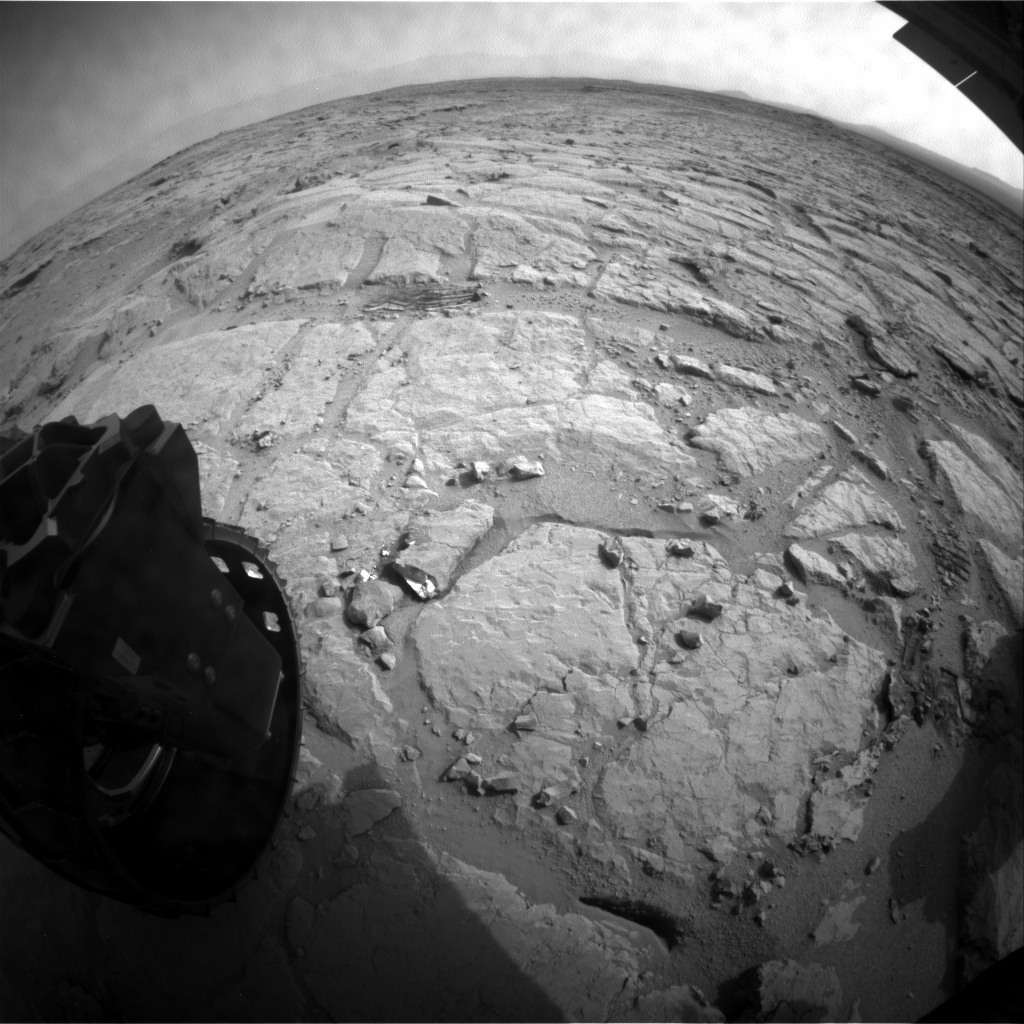 NASA's Mars rover Curiosity acquired this image using its Rear Hazard Avoidance Cameras (Rear Hazcams) on Sol 305
