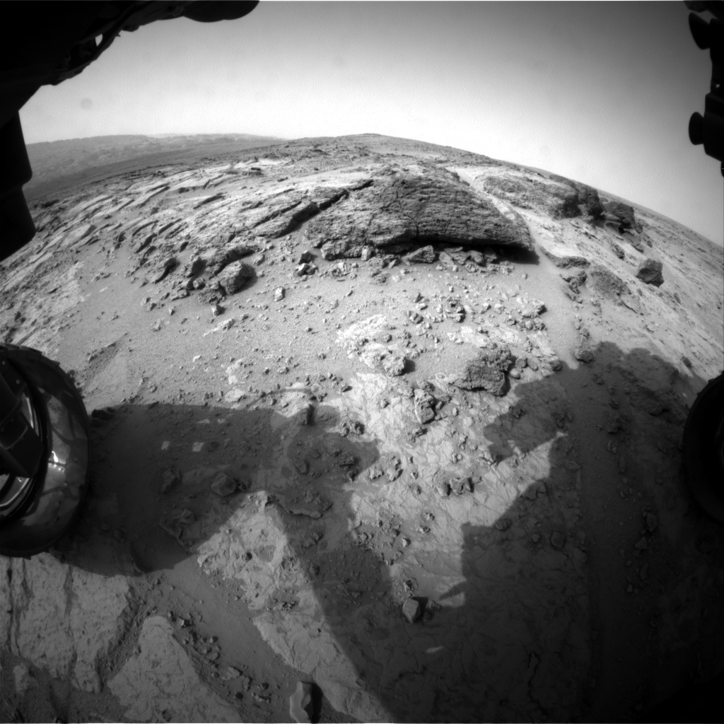 NASA's Mars rover Curiosity acquired this image using its Front Hazard Avoidance Cameras (Front Hazcams) on Sol 306