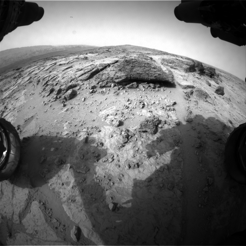Nasa's Mars rover Curiosity acquired this image using its Front Hazard Avoidance Camera (Front Hazcam) on Sol 306, at drive 450, site number 6
