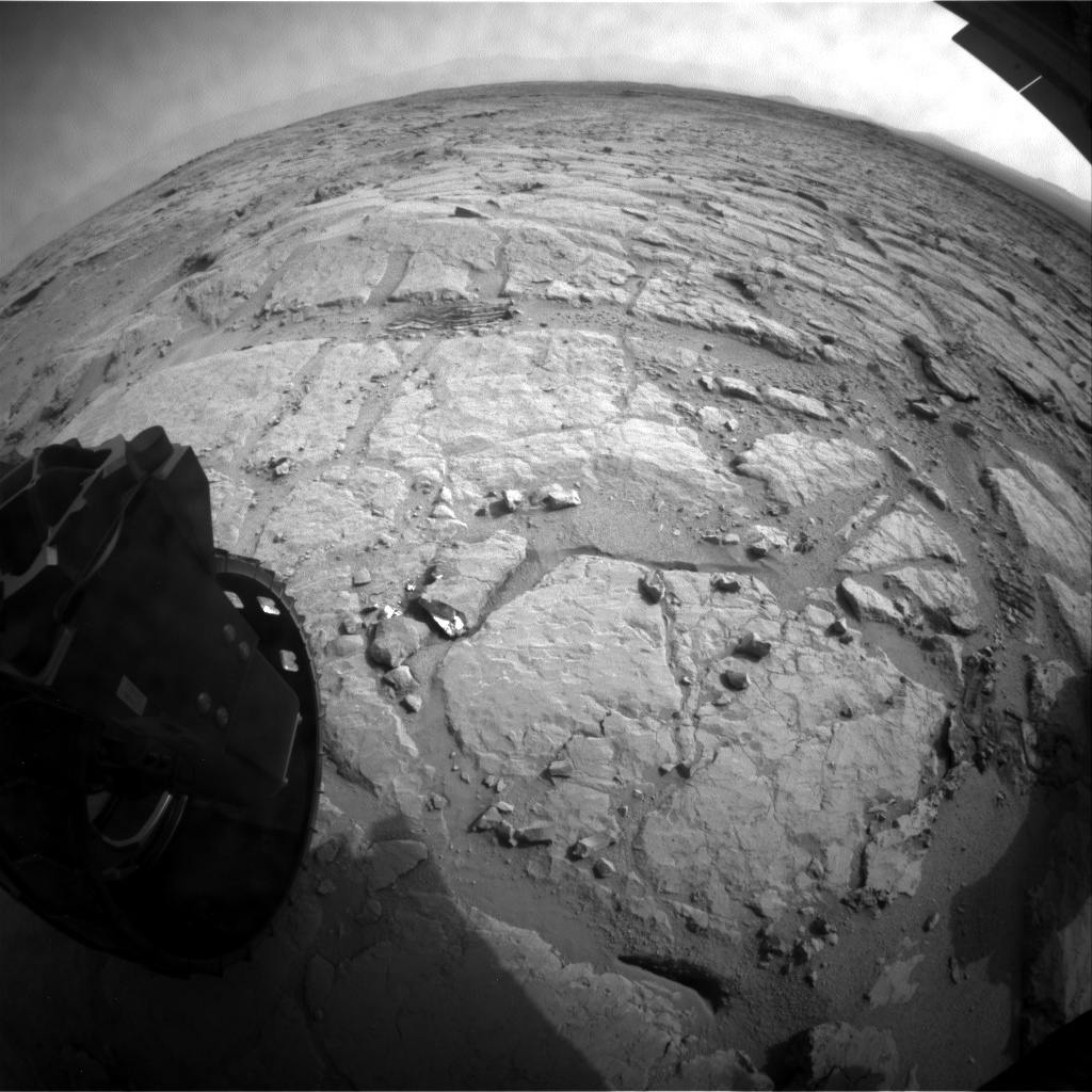 NASA's Mars rover Curiosity acquired this image using its Rear Hazard Avoidance Cameras (Rear Hazcams) on Sol 306