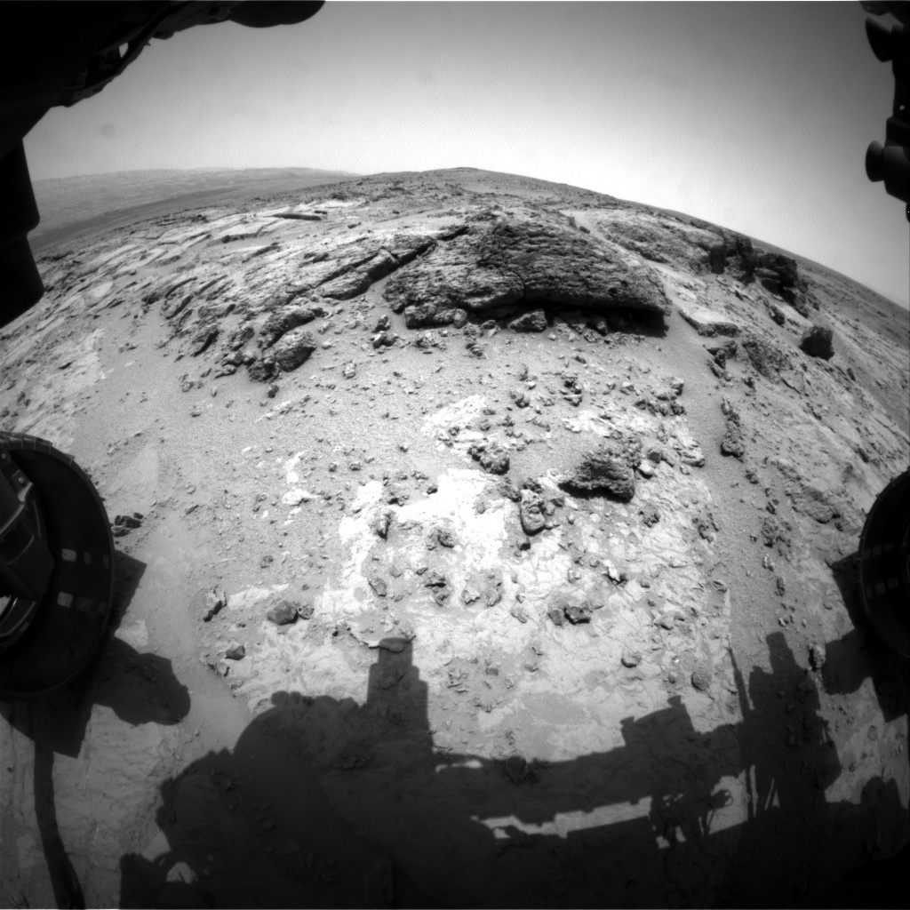 NASA's Mars rover Curiosity acquired this image using its Front Hazard Avoidance Cameras (Front Hazcams) on Sol 307