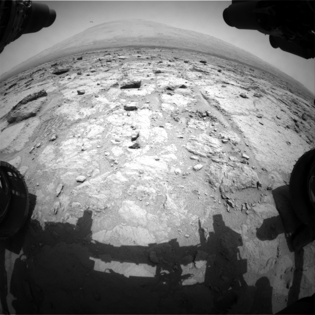 Nasa's Mars rover Curiosity acquired this image using its Front Hazard Avoidance Camera (Front Hazcam) on Sol 307, at drive 540, site number 6