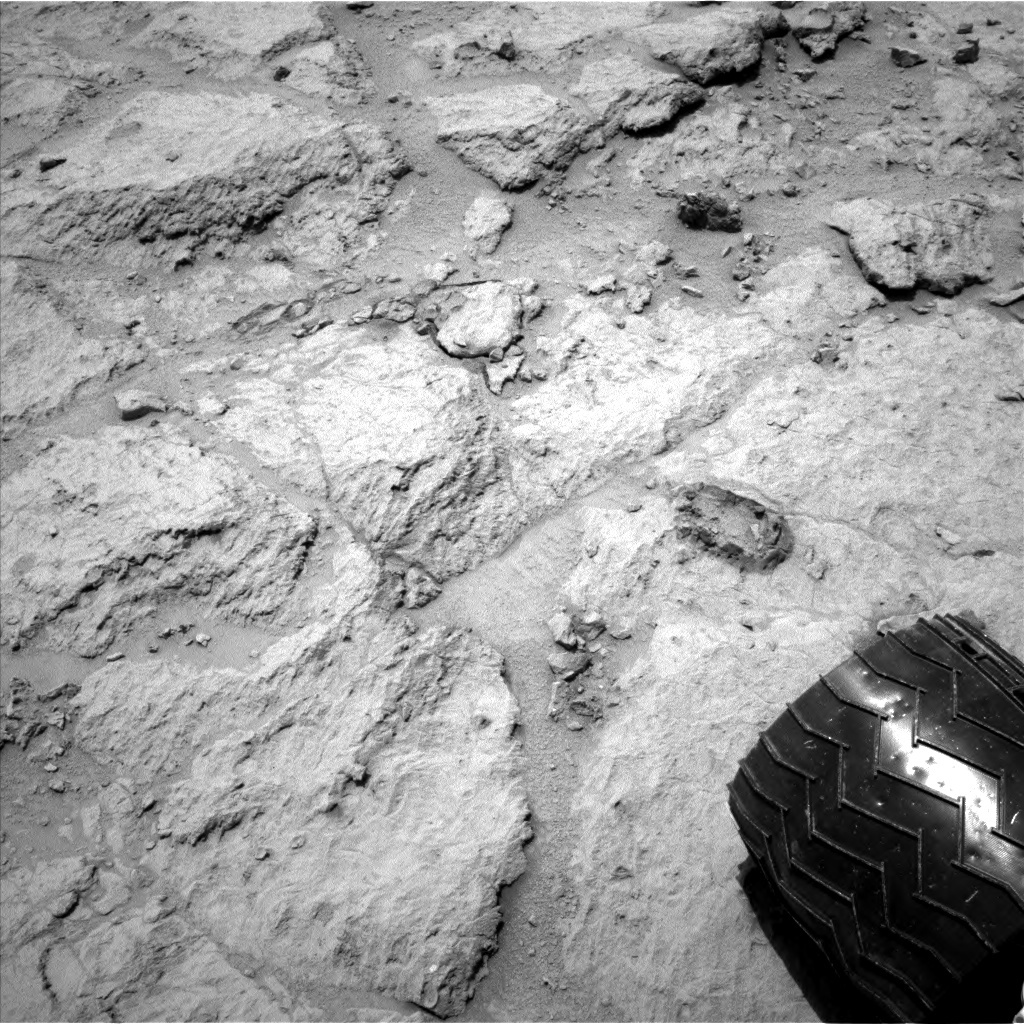 NASA's Mars rover Curiosity acquired this image using its Left Navigation Camera (Navcams) on Sol 307