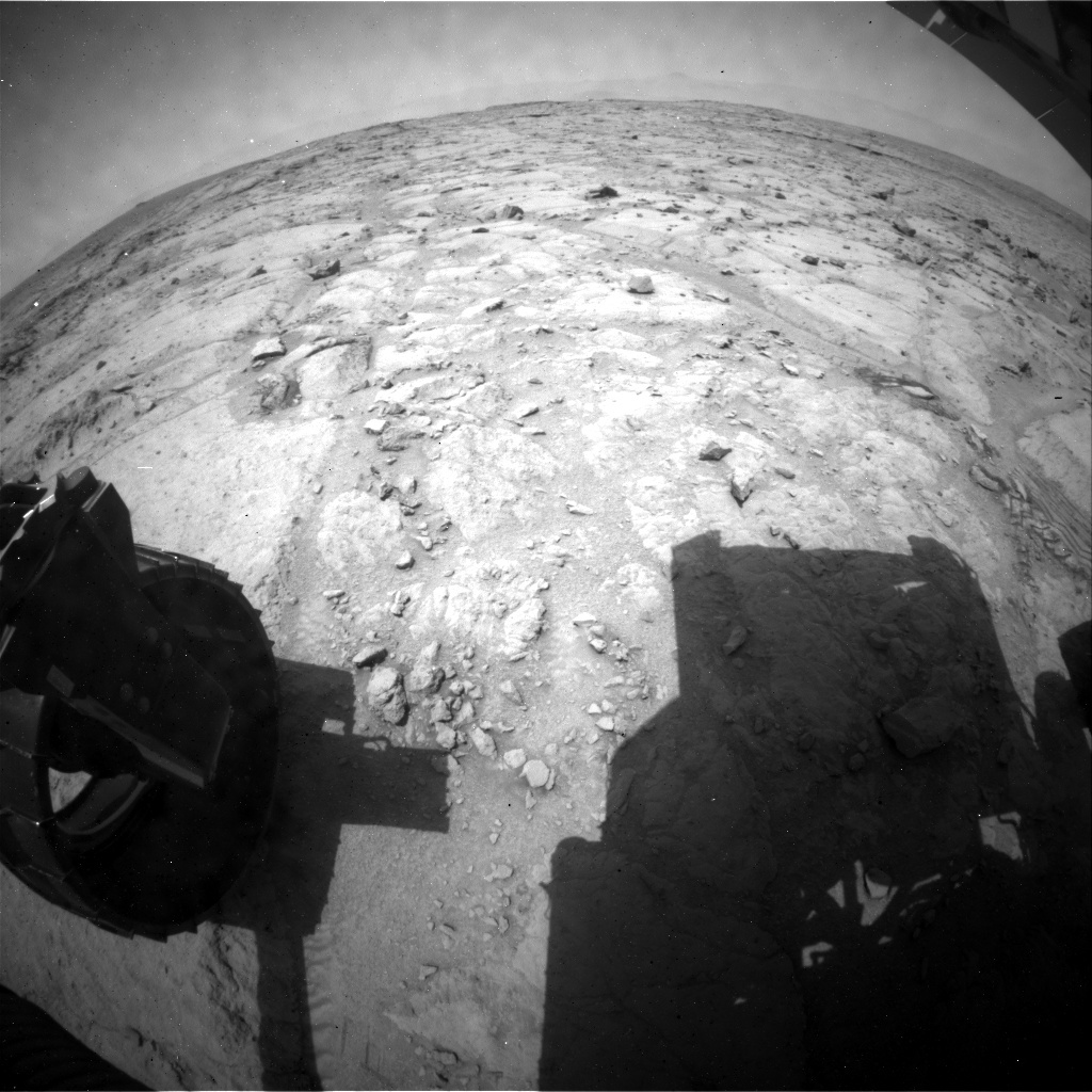 NASA's Mars rover Curiosity acquired this image using its Rear Hazard Avoidance Cameras (Rear Hazcams) on Sol 307