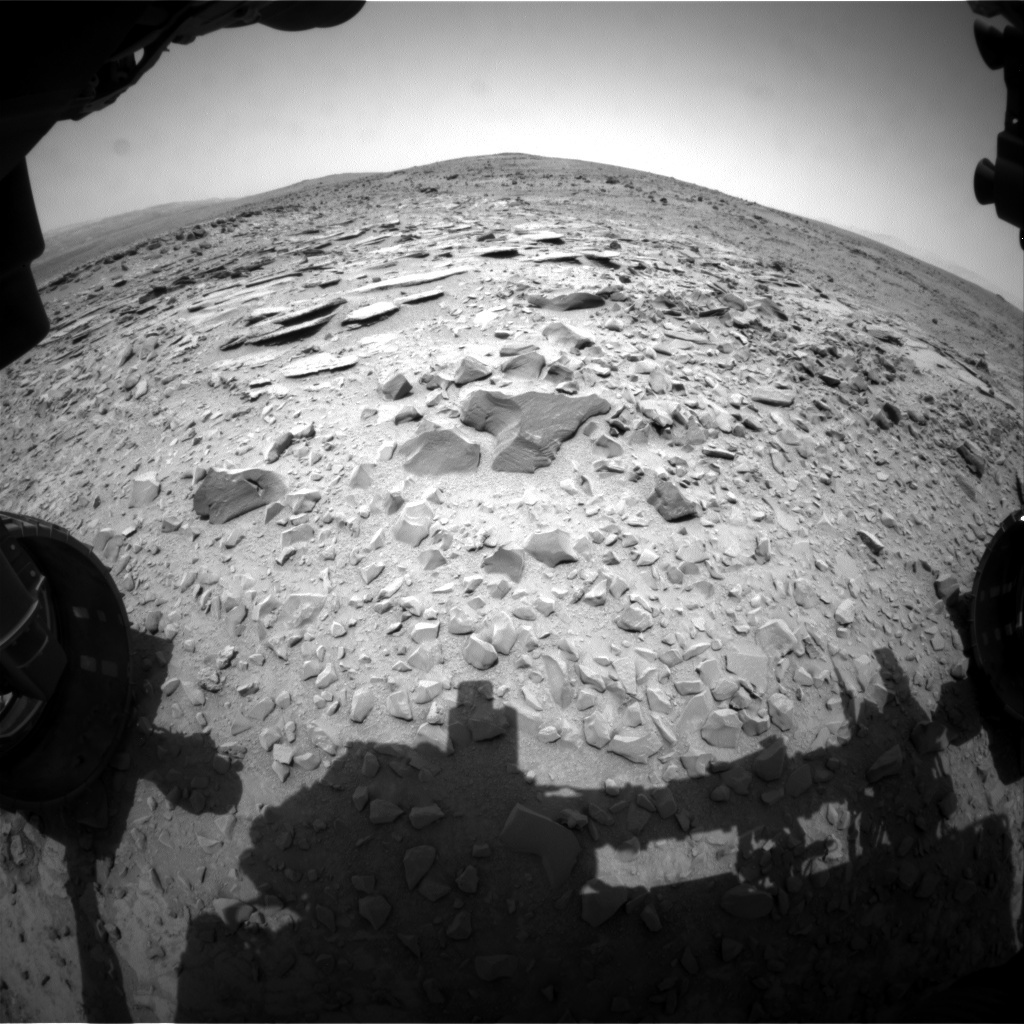 NASA's Mars rover Curiosity acquired this image using its Front Hazard Avoidance Cameras (Front Hazcams) on Sol 308