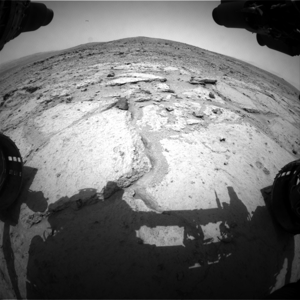 Nasa's Mars rover Curiosity acquired this image using its Front Hazard Avoidance Camera (Front Hazcam) on Sol 308, at drive 608, site number 6