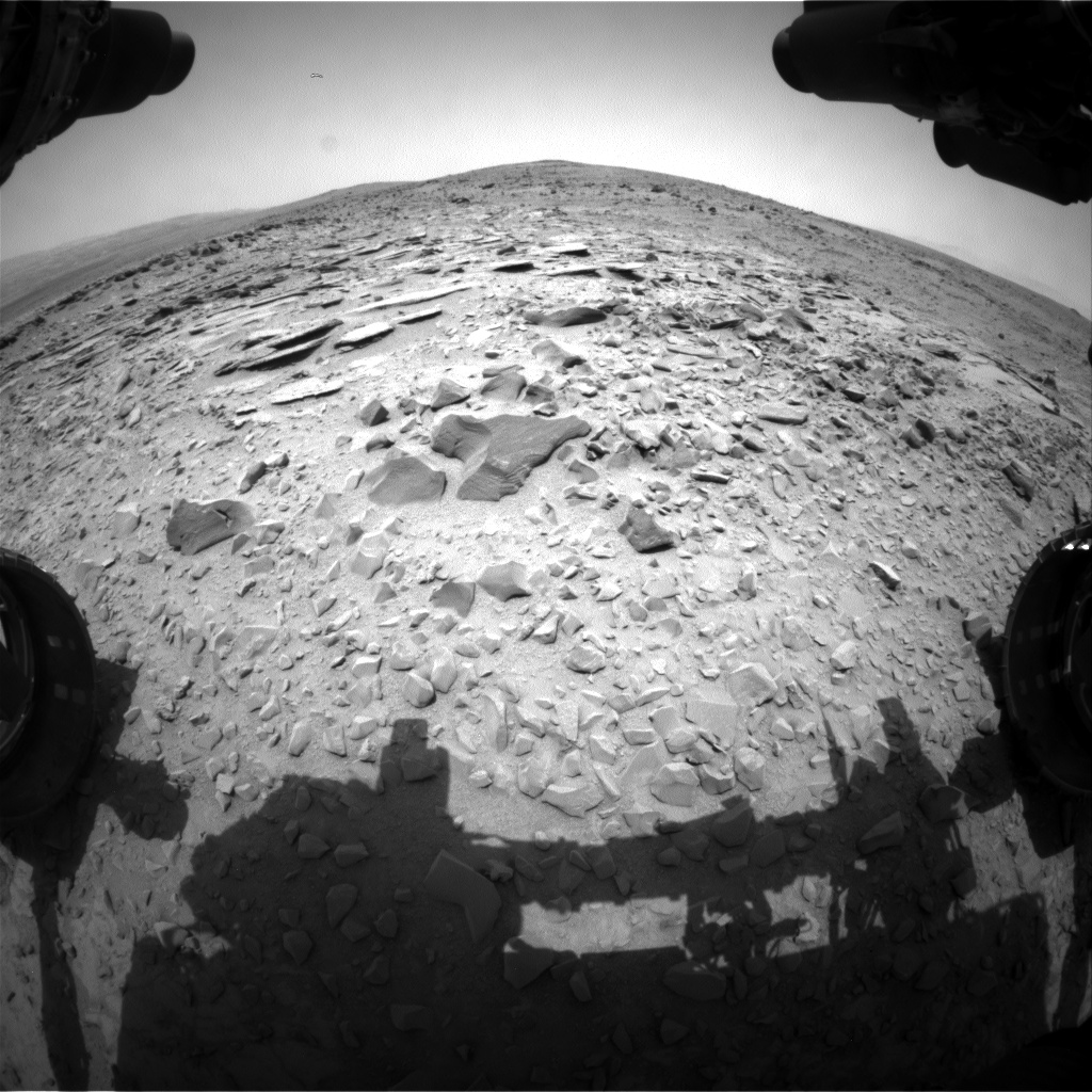 Nasa's Mars rover Curiosity acquired this image using its Front Hazard Avoidance Camera (Front Hazcam) on Sol 308, at drive 646, site number 6