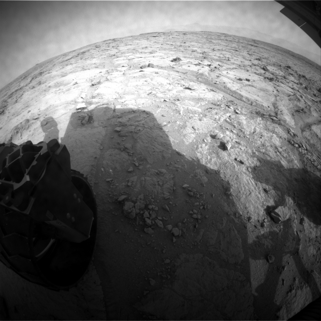 NASA's Mars rover Curiosity acquired this image using its Rear Hazard Avoidance Cameras (Rear Hazcams) on Sol 308