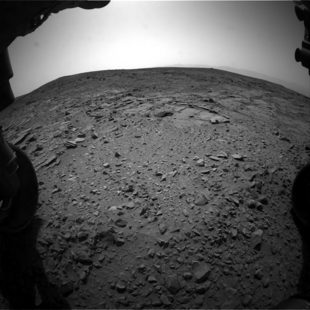 Nasa's Mars rover Curiosity acquired this image using its Front Hazard Avoidance Camera (Front Hazcam) on Sol 309, at drive 658, site number 6