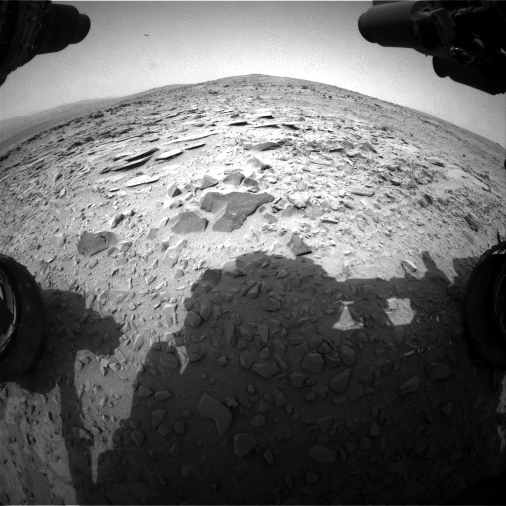 Nasa's Mars rover Curiosity acquired this image using its Front Hazard Avoidance Camera (Front Hazcam) on Sol 309, at drive 646, site number 6