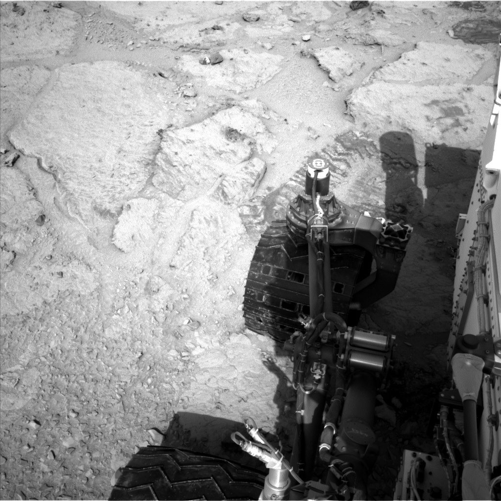NASA's Mars rover Curiosity acquired this image using its Left Navigation Camera (Navcams) on Sol 309