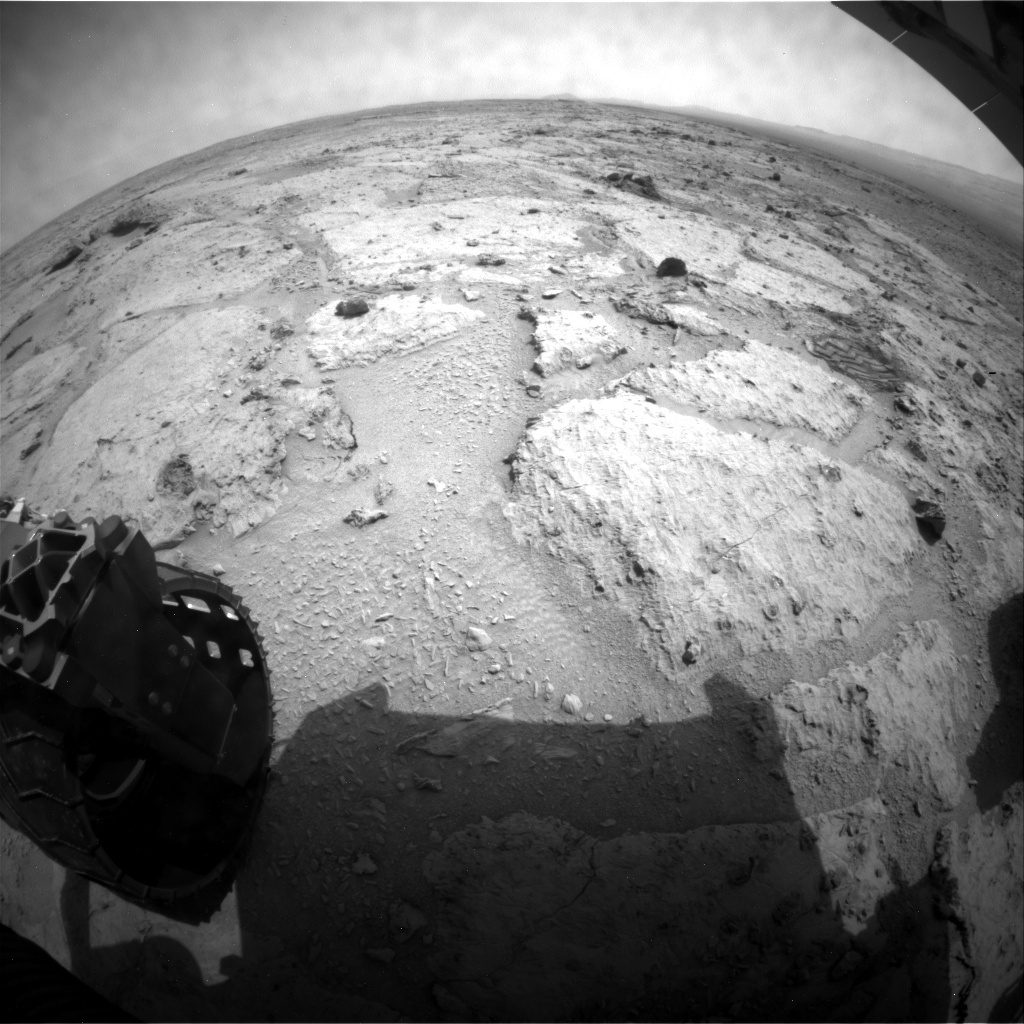 NASA's Mars rover Curiosity acquired this image using its Rear Hazard Avoidance Cameras (Rear Hazcams) on Sol 309