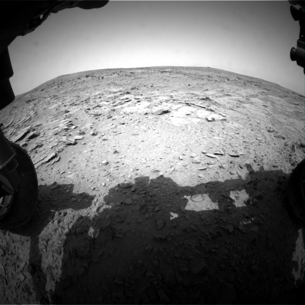 Nasa's Mars rover Curiosity acquired this image using its Front Hazard Avoidance Camera (Front Hazcam) on Sol 310, at drive 658, site number 6