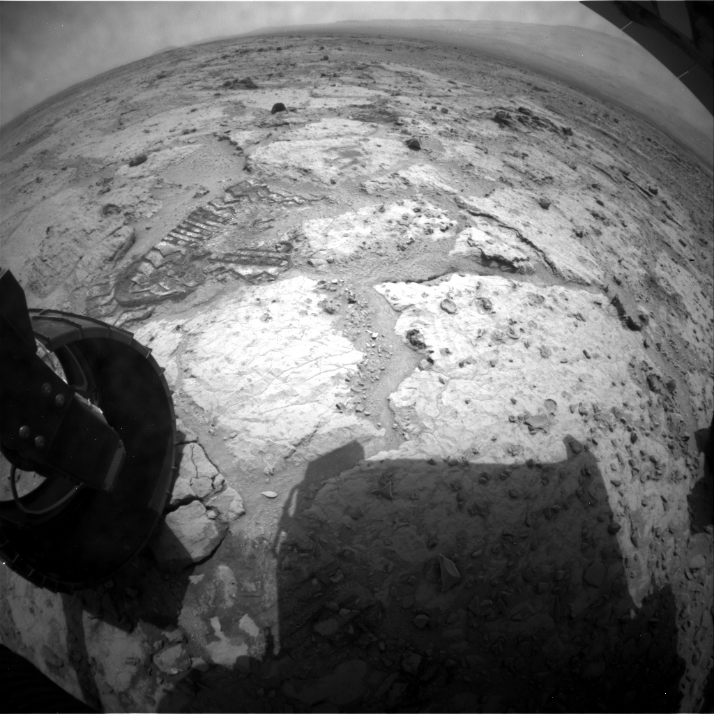 NASA's Mars rover Curiosity acquired this image using its Rear Hazard Avoidance Cameras (Rear Hazcams) on Sol 310